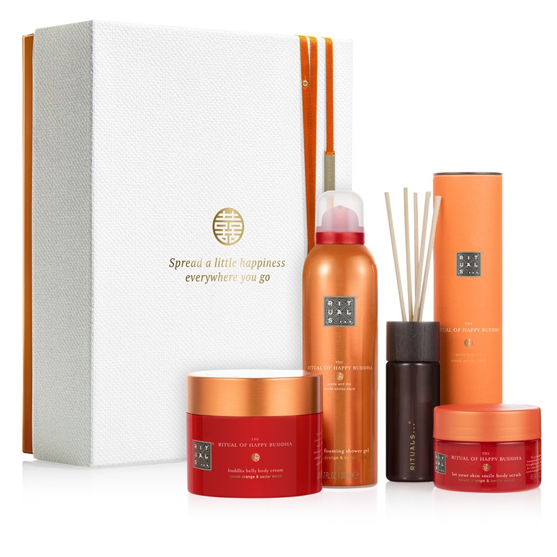 HAPPY BUDDHA -ENERGISING COLLECTION Rituals pakket in mooie geschenkverpakking