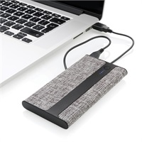 TRENDY POWERBANK Trendy Powerbank met linnenlook