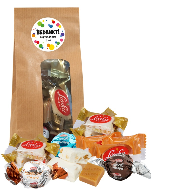 ENJOY IT KRAFT, zorg Enjoy It Kraft met chocolade bonbon-ballen, fudge en nougat