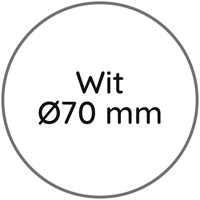 LOGO-ETIKET 70 mm, A wit LOGO-ETIKET 70 mm, wit